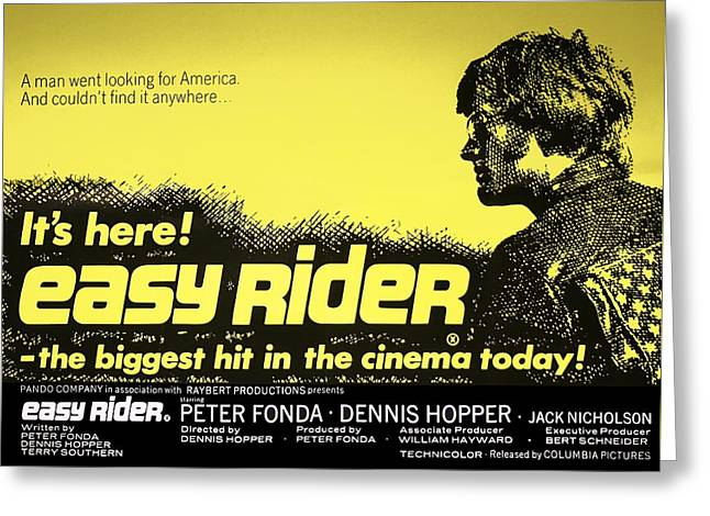 Easy Rider Movie Lobby Poster   1969 Greeting Card