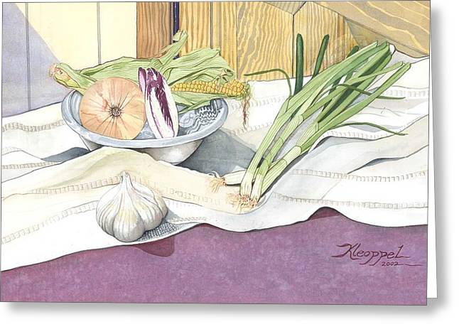 Eat What Is Good Greeting Card by Christine Belt