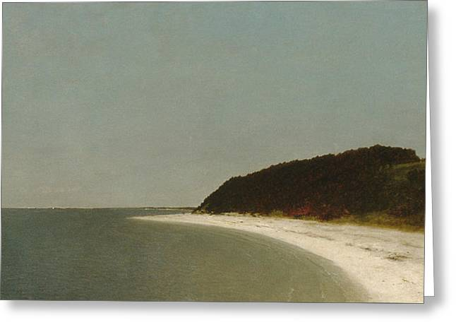 Eaton's Neck, Long Island Greeting Card by John Frederick Kensett