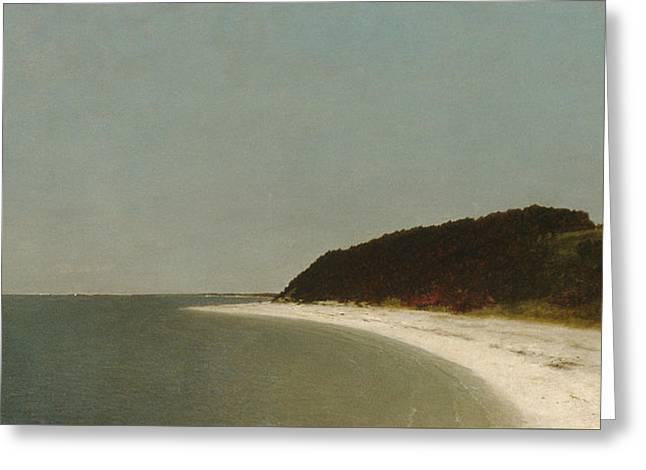 Eaton's Neck, Long Island Greeting Card by John Frederick Kensett