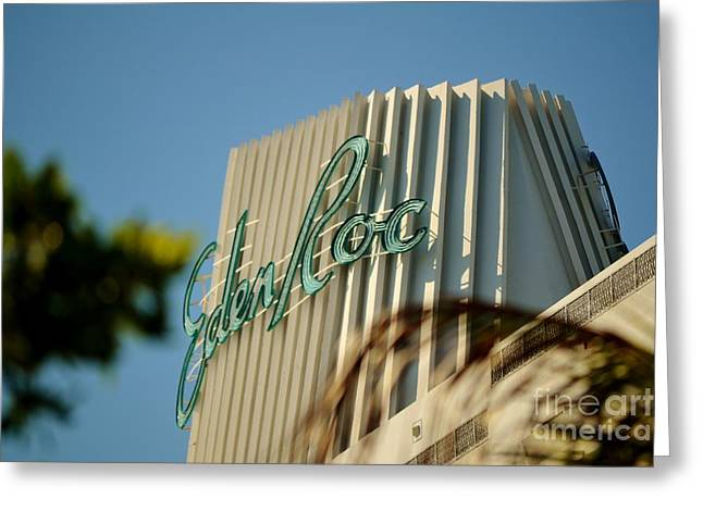 Eden Roc Hotel Miami Beach Greeting Card