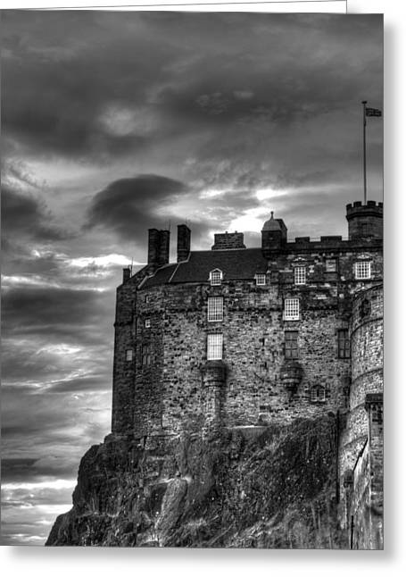 Edinburgh Castle Greeting Card by Marion Galt