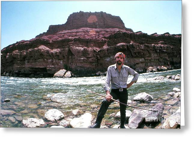 Edward Abbey By The Colorado River Greeting Card