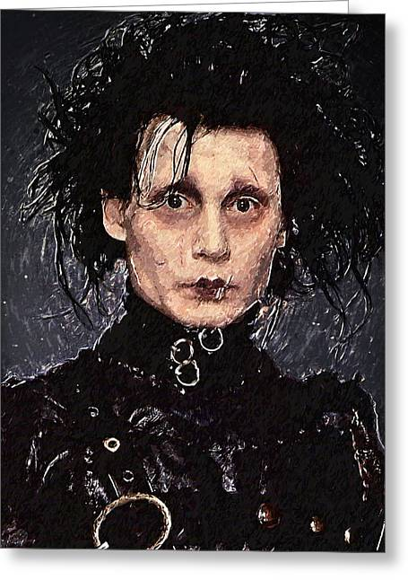 Edward Scissorhands Greeting Card by Taylan Apukovska