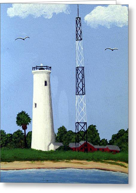 Egmont Key Lighthouse Greeting Card by Frederic Kohli