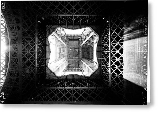 Greeting Card featuring the photograph Eiffel Tower by Dave Beckerman