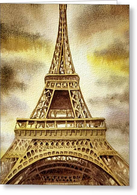 Eiffel Tower  Greeting Card by Irina Sztukowski