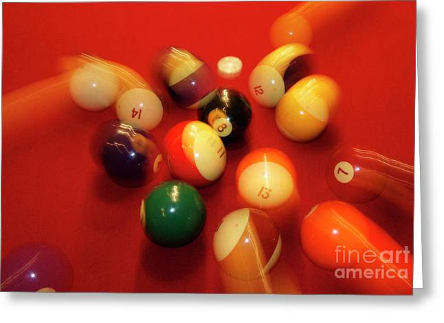 Eight Ball Greeting Card by Skip Willits