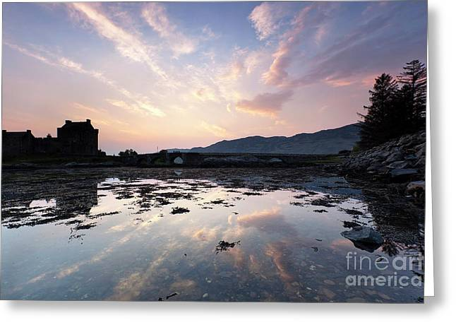 Historic Architecture Pastels Greeting Cards - Eilean Donan Castle Greeting Card by Andre Goncalves