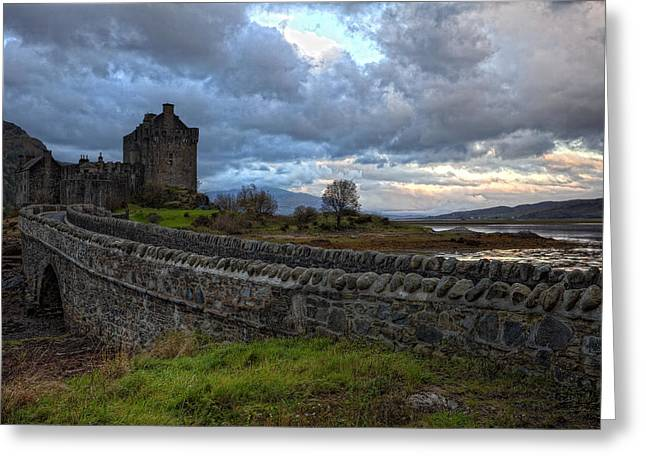 Eilean Donan Castle In The Morning Light Greeting Card by Jim Dohms