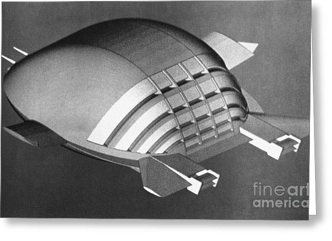 Ekip Flying Vehicle, Artwork Greeting Card by RIA Novosti
