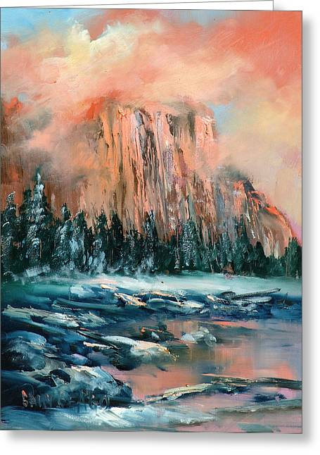 El Capitan Greeting Card by Sally Seago