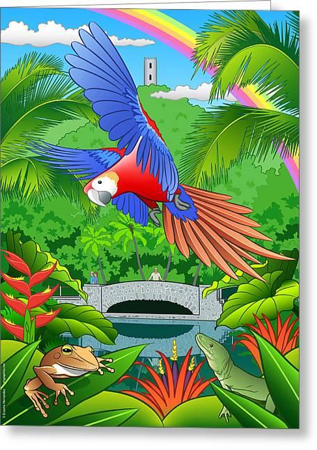 El Yunque Rain Forest  Greeting Card by Erasmo Hernandez