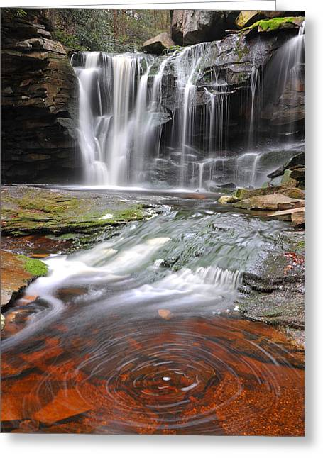 Greeting Card featuring the photograph Elakala Fall by Dung Ma