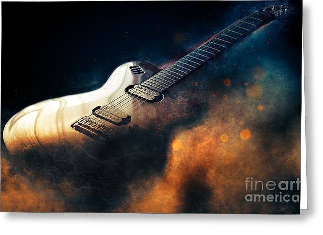 Electric Guitar Art Greeting Card