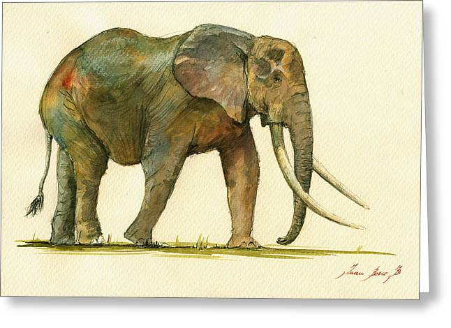 Elephant Painting           Greeting Card