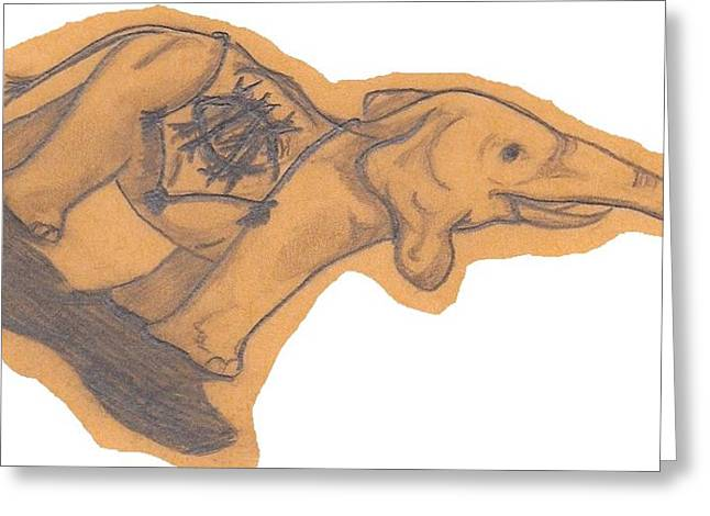 1 Elephante Greeting Card by Sherry Klander