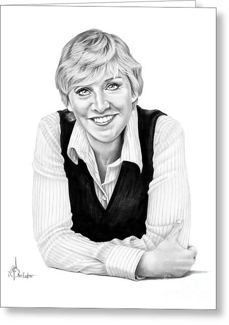 Ellen Degeneres Greeting Card by Murphy Elliott