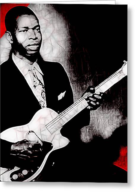Elmore James Collection Greeting Card by Marvin Blaine