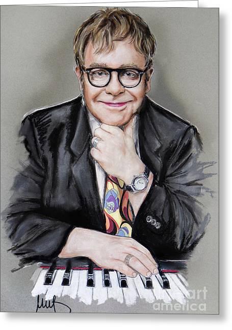 Elton John Greeting Card