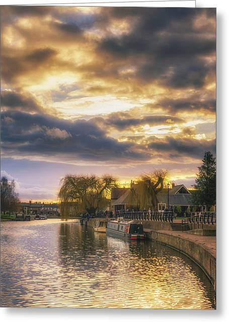 Greeting Card featuring the photograph Ely Riverside by James Billings