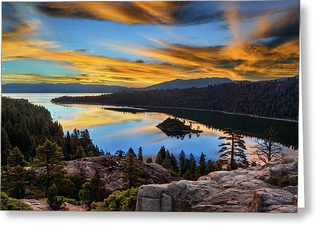 Emerald Bay Greeting Card by Doug Oglesby