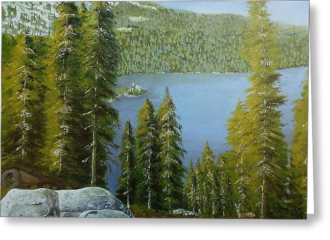 Emerald Bay - Lake Tahoe Greeting Card