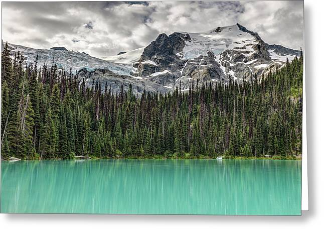 Emerald Reflection Greeting Card by Pierre Leclerc Photography