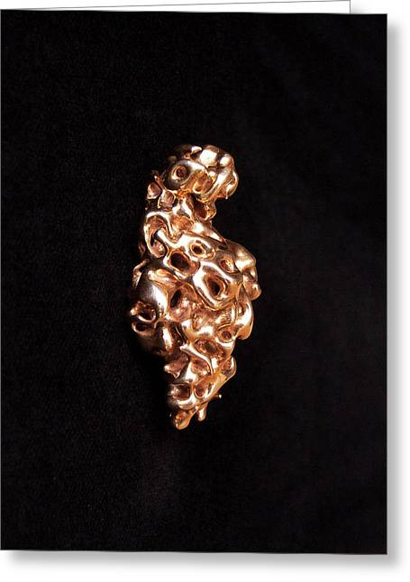 Emerging Venus Of Willendorf - Right Side - A Greeting Card by Sora Neva