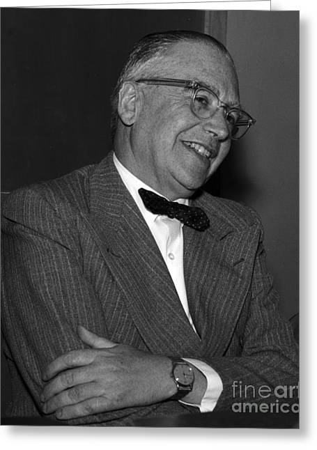 Emilio Segr�, Italian-american Physicist Greeting Card by Science Source