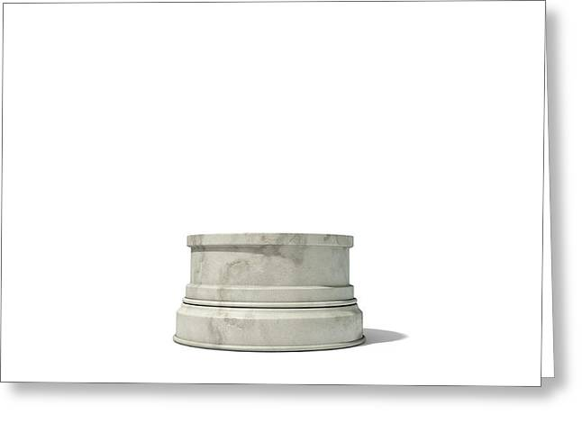 Empty Trophy Base Greeting Card by Allan Swart