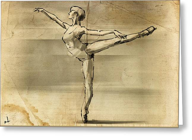 En Pointe Greeting Card by H James Hoff