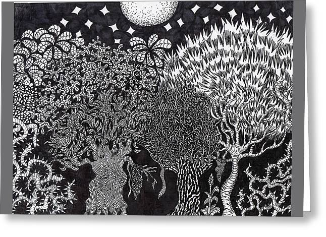 Enchanted Forest Greeting Card by Jesse Apple