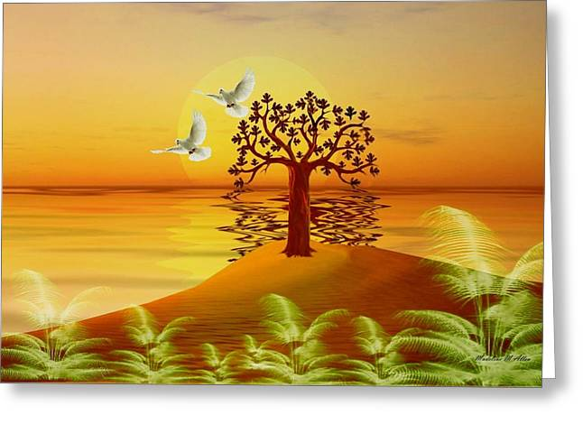 Smudgeart Greeting Cards - Enchanted Isle Greeting Card by Madeline  Allen - SmudgeArt