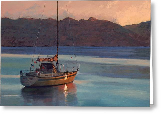 End Of Day Greeting Card by Robert Bissett