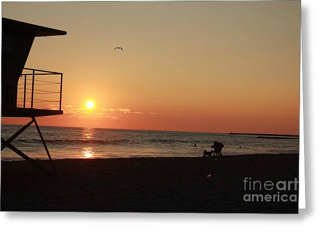 Greeting Card featuring the photograph End Of The Day by Kim Pascu