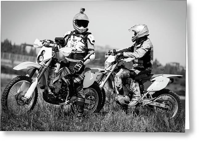 Enduro Motosport Greeting Card