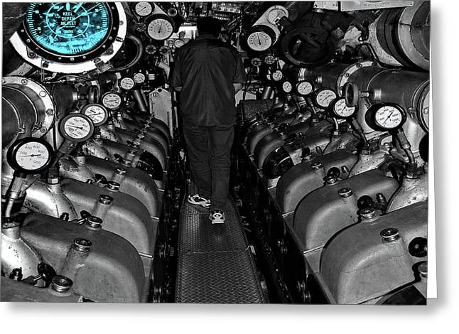 Engine Room Sc Greeting Card by Tim Richards