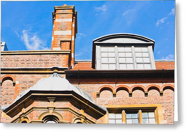 English Architecture Greeting Card by Tom Gowanlock
