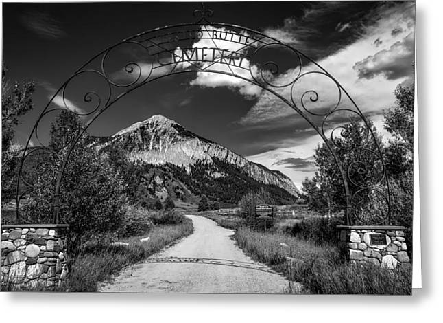 Entrance To Crested Butte Greeting Card by Mountain Dreams
