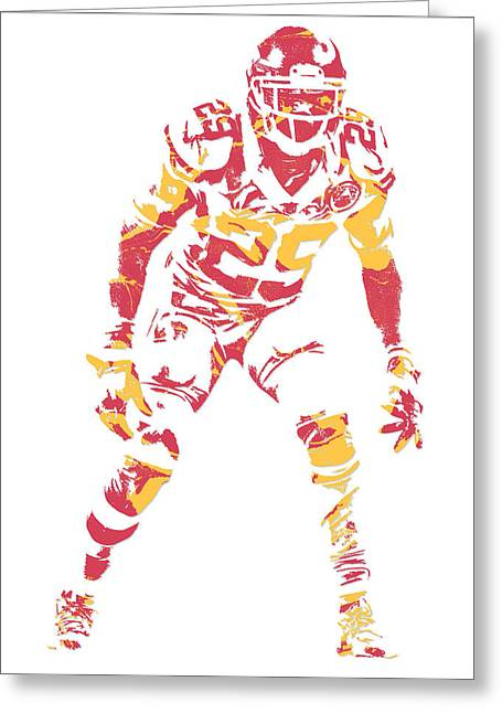 Eric Berry Kansas City Chiefs Pixel Art Greeting Card