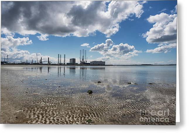 Esbjerg Harbor Denmark, Metropol Of Energy Greeting Card