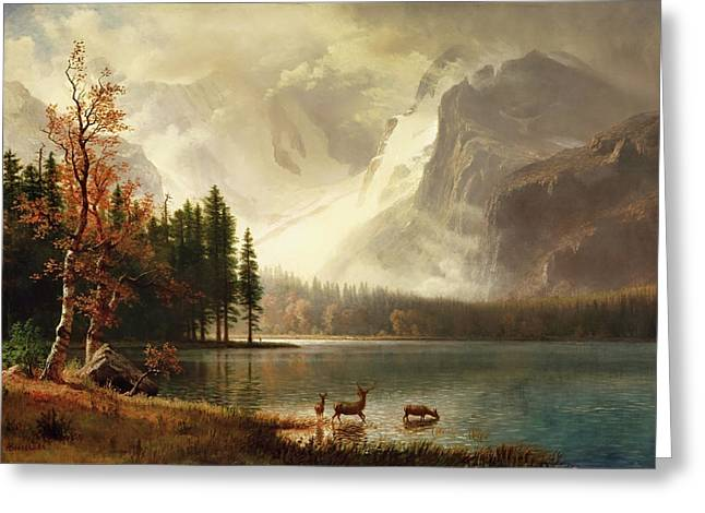 Estes Park, Colorado, Whyte's Lake Greeting Card by Albert Bierstadt