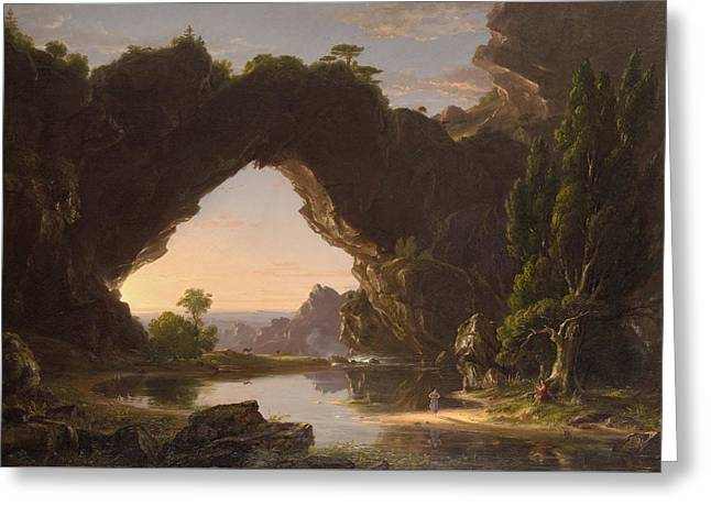 Evening In Arcady Greeting Card by Thomas Cole