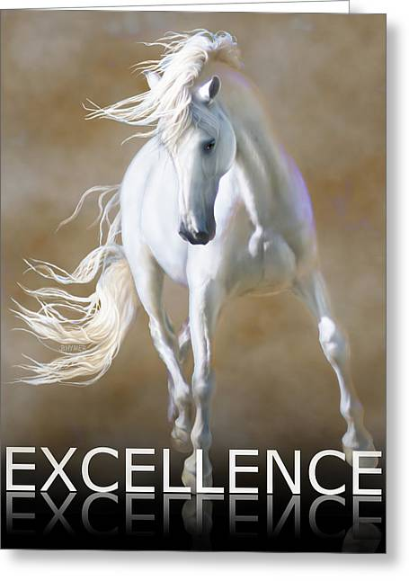 Excellence Greeting Card by Barbara Hymer