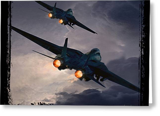F-14 Flying Iron Greeting Card