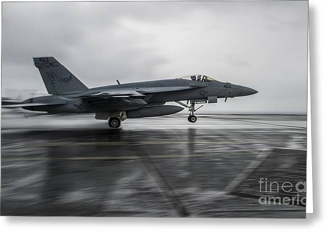 F A-18e Super Hornet  Greeting Card by Celestial Images