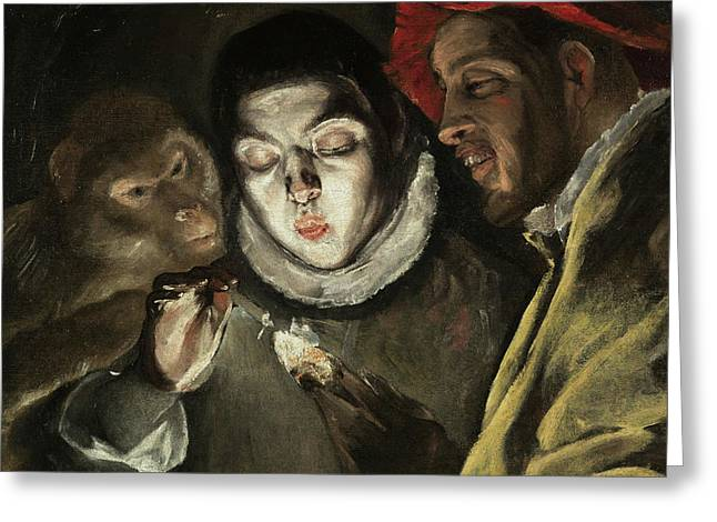 Fable Greeting Card by El Greco