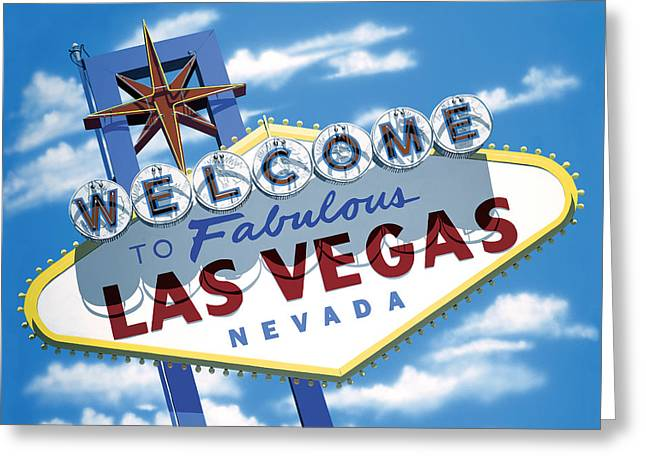 Icon Reproductions Greeting Cards - Fabulous Las Vegas Greeting Card by Anthony Ross