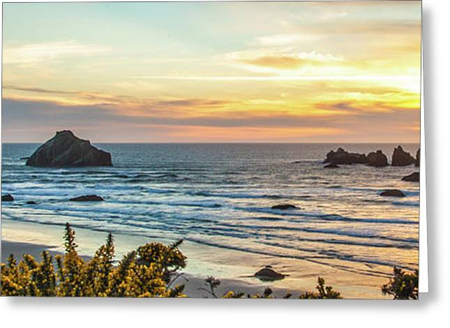Face Rock At Sunset Greeting Card